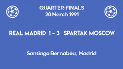 UCL 1991 - quarterfinals - second leg - Real Madrid vs Spartak Moscow