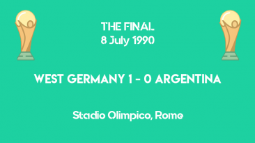 World Cup 1990 - THE FINAL - West Germany vs Argentina