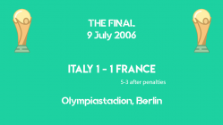 World Cup 2006 - THE FINAL - Italy vs France