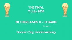 World Cup 2010 - THE FINAL - Netherlands vs Spain