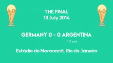 World Cup 2014 - THE FINAL - Germany vs Argentina