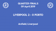 Liverpool wins 2-0 against Porto in the first leg of the Champions League 2019 quarter-finals