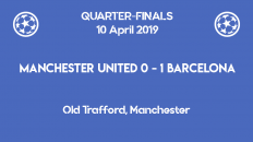 Manchester United lose 0-1 to Barcelona in the first leg of the Champions League 2019 quarter-finals