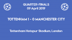 Tottenham wins 1-0 against Manchester City in the first leg of the Champions League 2019 quarter-finals