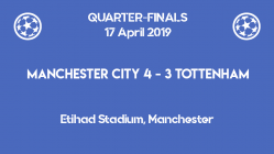 Tottenham advanced to the Champions League 2019 semi-finals after a dramatic 4-3 at Etihad Stadium against Manchester City