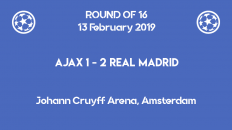 Ajax lost 1-2 to Real Madrid in the first leg of Champions League 2019 round of 16
