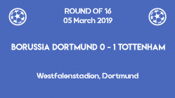 Borussia Dortmund lost the qualification for the quarter-finals after a 0-1 defeat against Tottenham in the second leg of Champions League 2019 round of 16