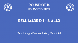 Ajax qualified for the quarter-finals of Champions League 2019 after a stunning 4-1 victory against Real Madrid