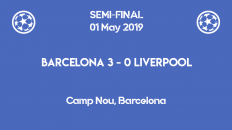Barcelona wins 3-0 against Liverpool in the first leg of the Champions League 2019 semi-finals