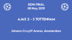 A dramatic comeback for Tottenham at Amsterdam which qualified them for the Champions League 2019 final