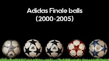 The first batch of Adidas Finale balls from 2000 until 2005