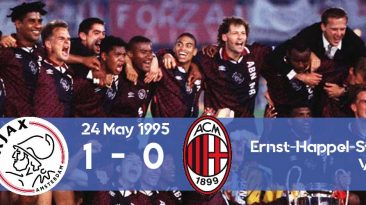 Watch how Ajax won its first Champions League title in 1995 against AC Milan