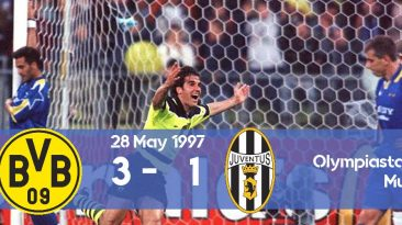Watch how Borussia won its first Champions League title in 1997 against Juventus.