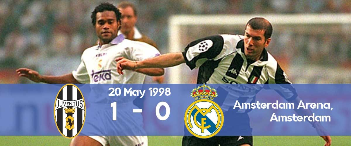 Watch how Juventus won the Champions League 1998 final against Real Madrid