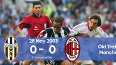 Watch how Milan won the Champions League 2003 final against Juventus on penalties