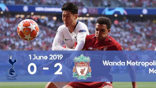 Watch the victory of Liverpool during the Champions League 2019 final against Tottenham
