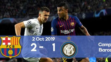 Barcelona 2-1 Inter Champions League 2019/2020 group stage