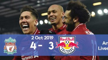 Liverpool 4-3 RB Salzburg Champions League 2019/2020 group stage