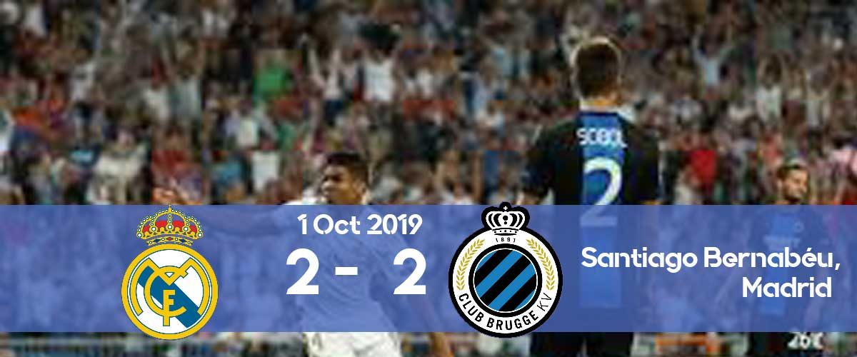 Real Madrid 2-2 Club Brugge Champions League 2019/2020 group stage