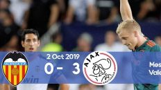 Valencia 0-3 Ajax Champions League 2019/2020 group stage