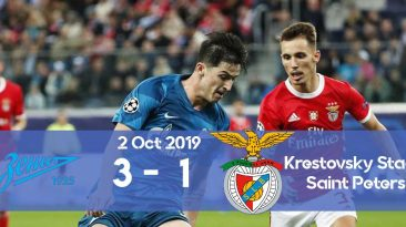 Zenit 3-1 Benfica Champions League 2019/2020 group stage