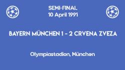 UCL 1991 - semifinal - first leg - Crvena Zvezda vs Bayern