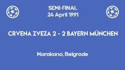 UCL 1991 - semifinal - second leg - Crvena Zvezda Bayern