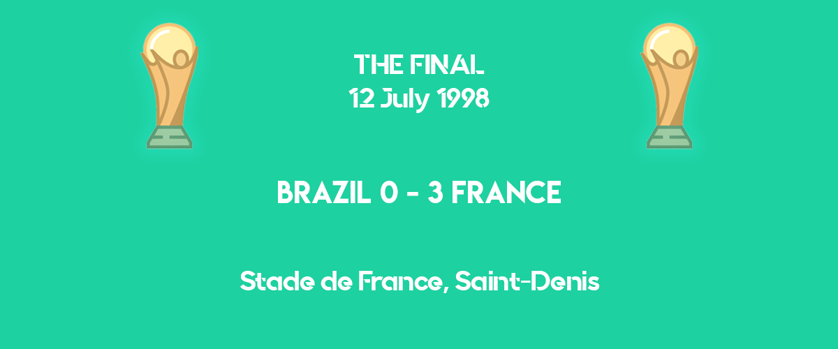 World Cup 1998 final scoreboard