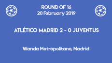 Atletico Madrid wins 2-0 against Juventus in the first leg of Champions League 2019 round of 16