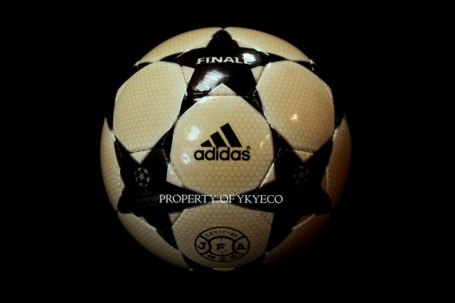The Adidas Finale Ball 3 used during The Champions League 2003-2004 season