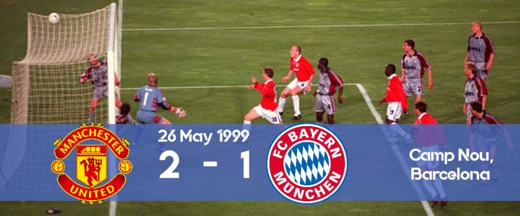 Watch how Manchester United won the Champions League 1999 final against Bayern Munich in the last minute