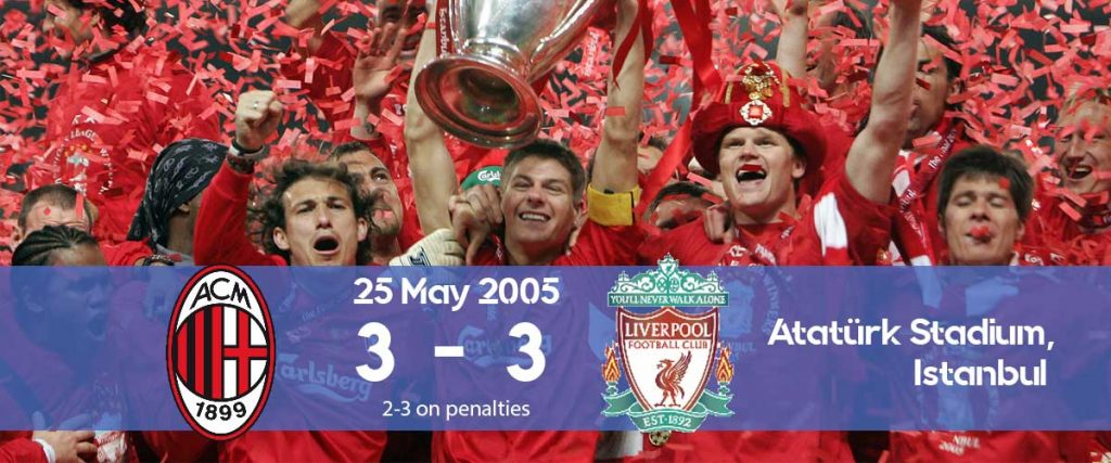 Watch how Steven Gerard led Liverpool for their historic Champions League 2005 comeback against AC Milan.