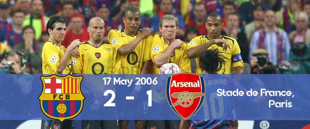 Barcelona won the Champions League 2006 final against Arsenal