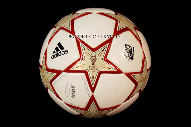 The Adidas Finale Madrid Ball used during The Champions League 2010 is the first with full stars